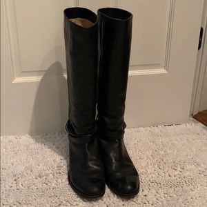 Ladies knee high leather boots